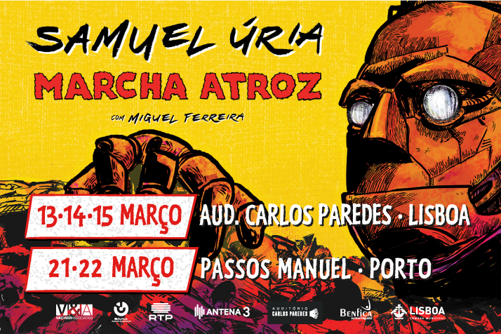 """SAMUEL ÚRIA APRESENTA """"MARCHA ATROZ"""" EM LISBOA E PORTO"""