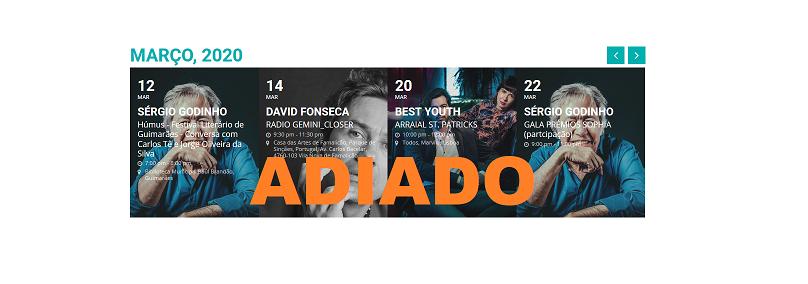 COVID 19 – EVENTOS ADIADOS/CANCELADOS